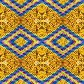 Rainbow Diamonds in Golden Lava