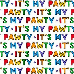 It's my party (pawty)  - rainbow