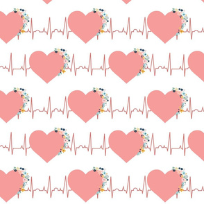 Blooming EKG Hearts