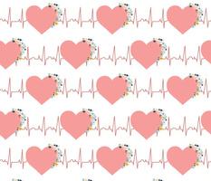Blooming EKG Hearts