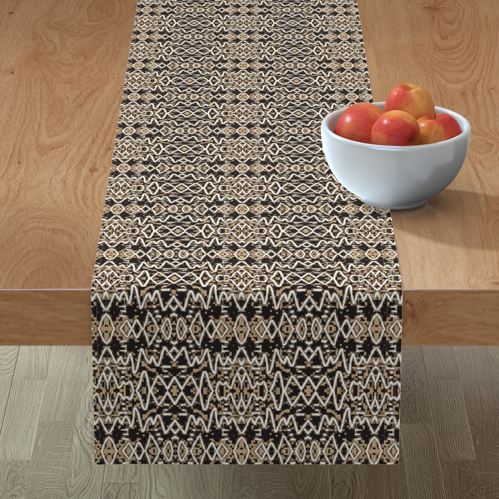 Minorca Table Runner featuring Ajabu 9 by tabasamu_design