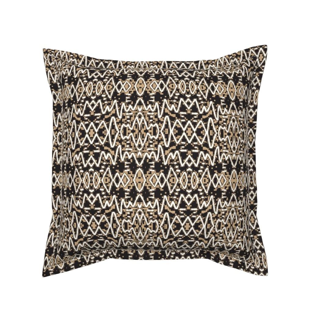 Serama Throw Pillow featuring Ajabu 9 by tabasamu_design