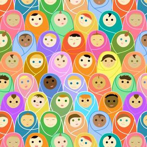 Pediatrics: all the babies in the nursery!