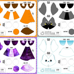 Cut and Sew Fox Plush Bundle