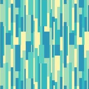 Geometry - Bars - Blue, Teal, Yellow