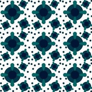 Circles & Rings - Dark Pinwheels