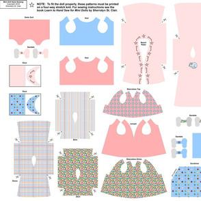 Hand sew mini doll knit fabric wardrobe