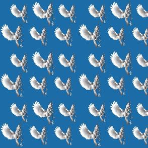 Bird on Blue