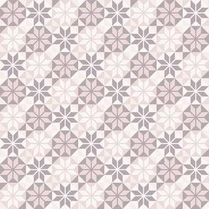 Geometric Pattern: Eight Petal Flower: Brown