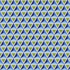 Geometric Pattern: Triangle: Blue/Green