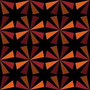 Geometric Pattern: Star: Orange/Red