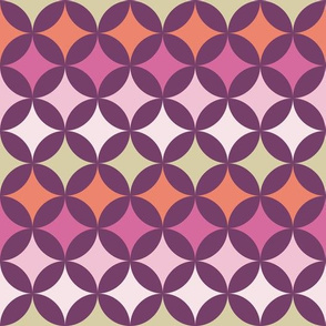 Geometric Pattern: Circle Nested: Orchid