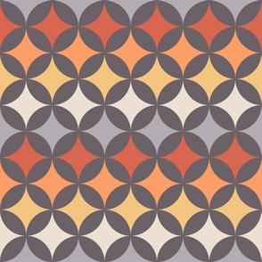 Geometric Pattern: Circle Nested: Sunset