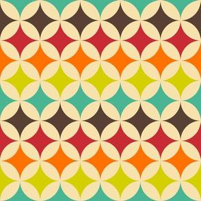 Geometric Pattern: Circle Nested: Rainbow