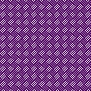 Geometric Pattern: Weave: Purple