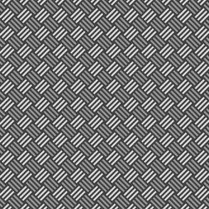 Geometric Pattern: Weave: Grey