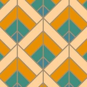 Geometric Pattern: Art Deco Diamond: Lily