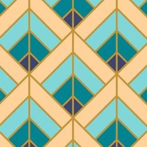 Geometric Pattern: Art Deco Diamond: Dream