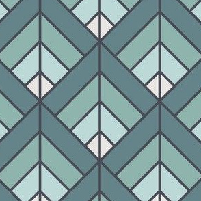 Geometric Pattern: Art Deco Diamond: Sea Foam