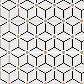 Geometric Pattern: Art Deco Star Circle: Brookelyn Terracotta