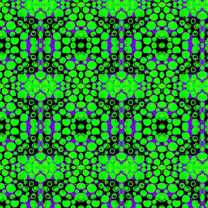 Distorted Circles bright green large