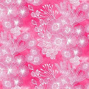 Sea garden half-drop in pink