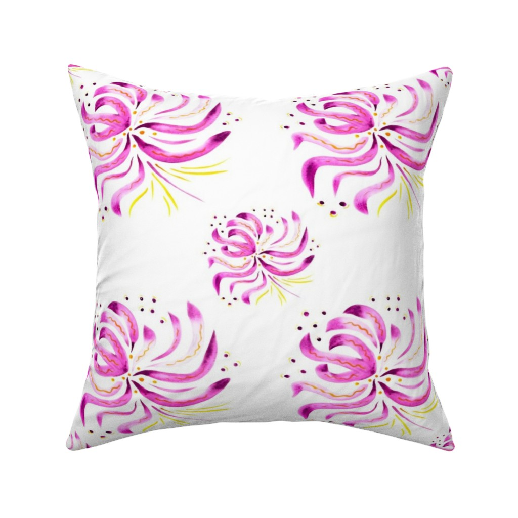 Catalan Throw Pillow featuring  watercolor flower by katrinkastem