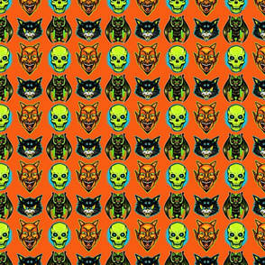 Retro Halloween (yellow skull)
