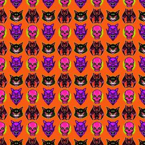 Retro Halloween (purple devil)
