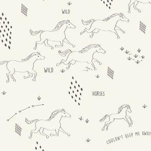 Wild Wild Horses in Bone
