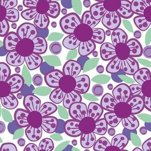 Lilac Bold Flowers small scale