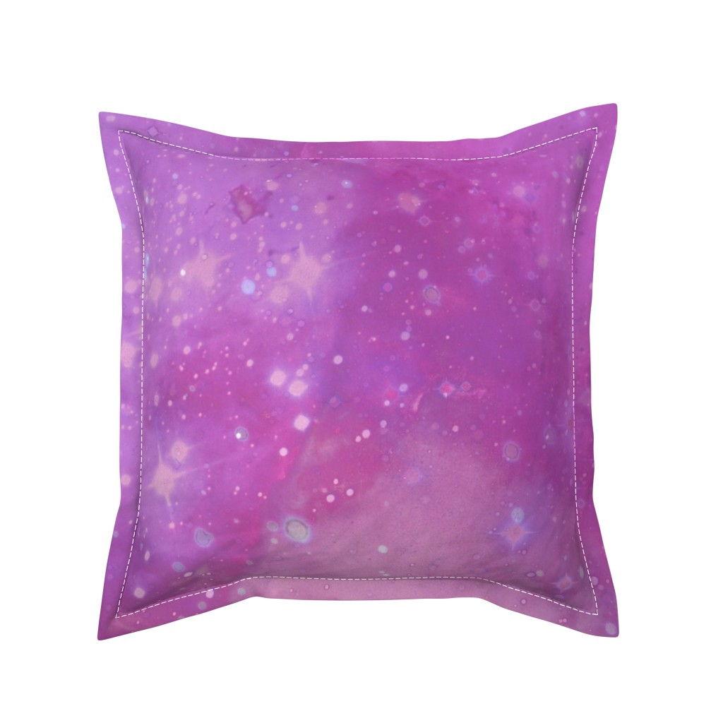 Serama Throw Pillow featuring Pink and Purple Galaxy by aspie_giraffe