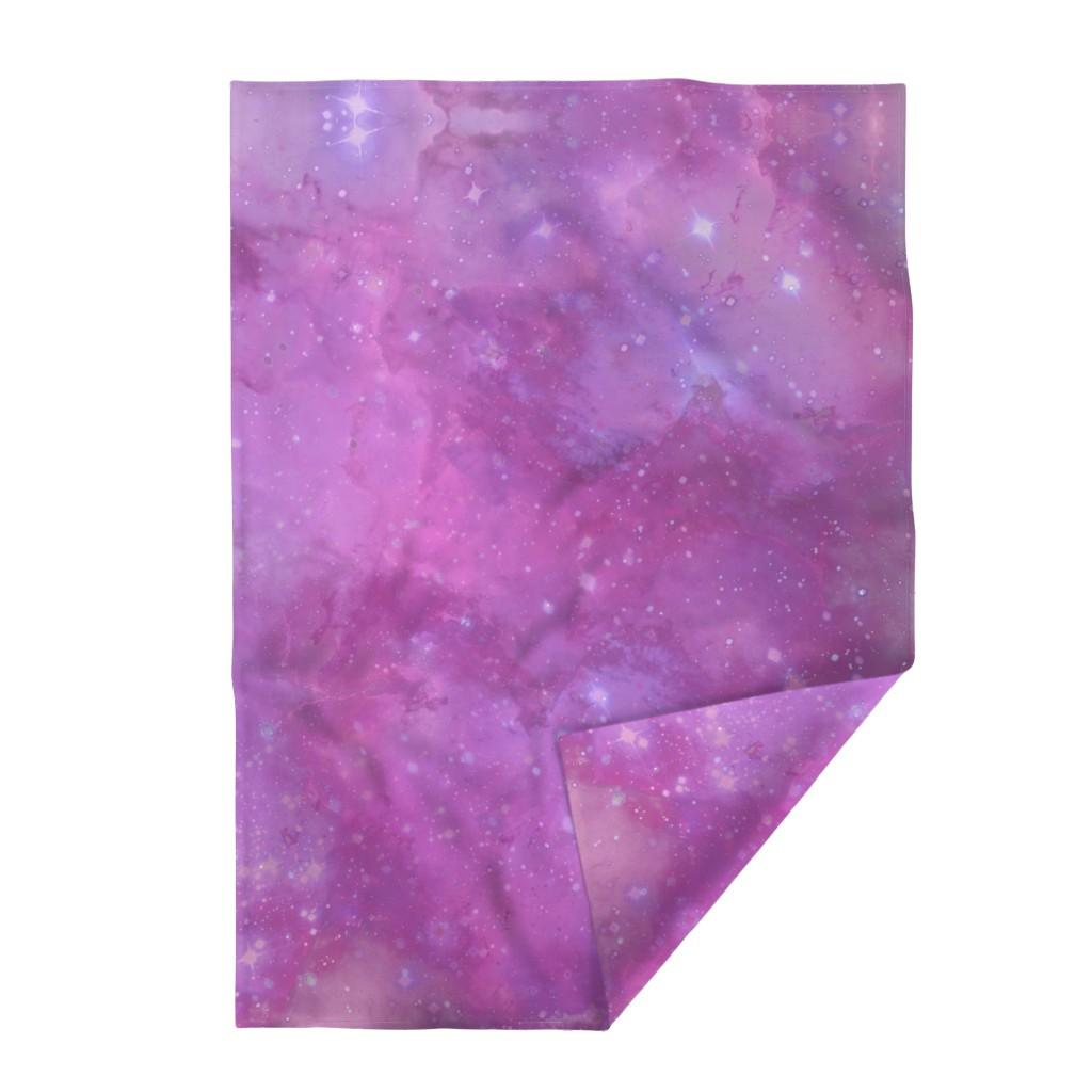 Lakenvelder Throw Blanket featuring Pink and Purple Galaxy by aspie_giraffe