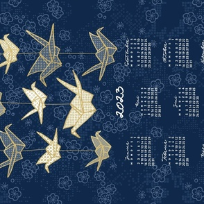 German 2021 Calendar, Monday / Origami
