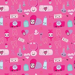 kawaii medical pink