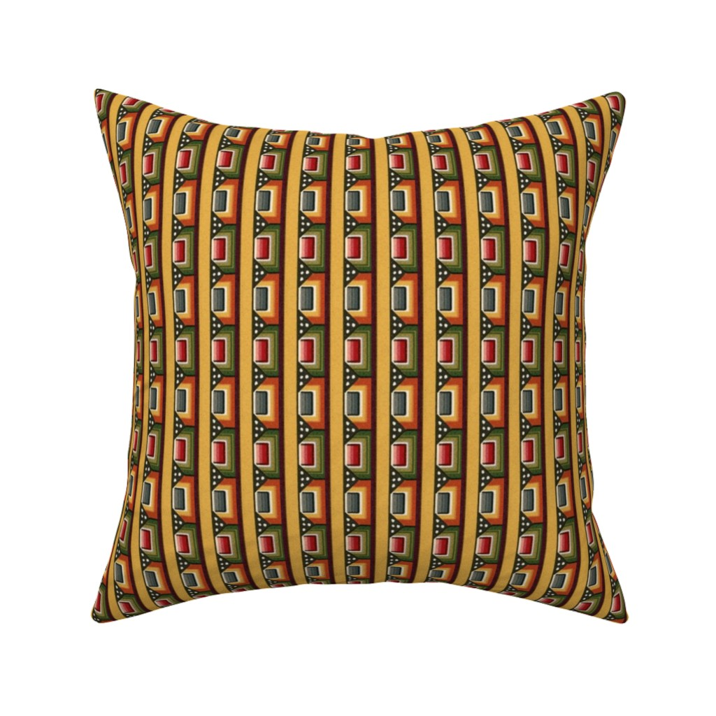 Catalan Throw Pillow featuring bizantine 144 by hypersphere