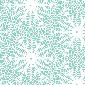 crocus snowflake sea green white