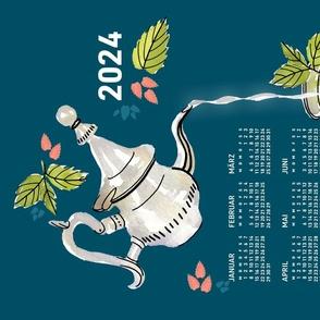 German 2021 Calendar, Monday / Mint Tea