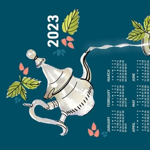 2021 Calendar, Sunday / Mint Tea