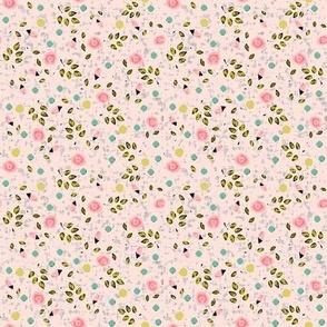 Ditsy spring flower in pink
