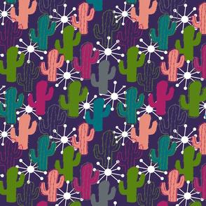 Cactus in the Night Desert