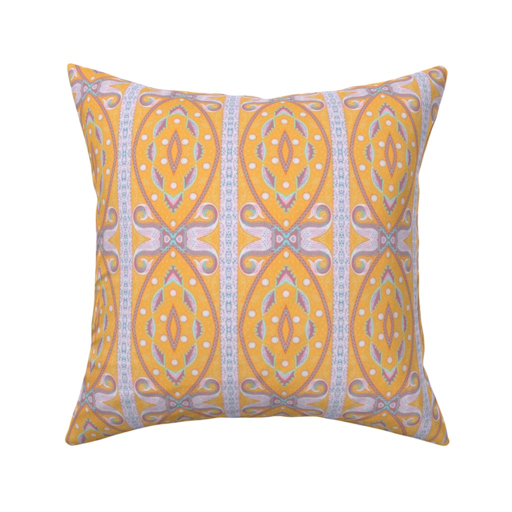 Catalan Throw Pillow featuring bizantine 149 by hypersphere