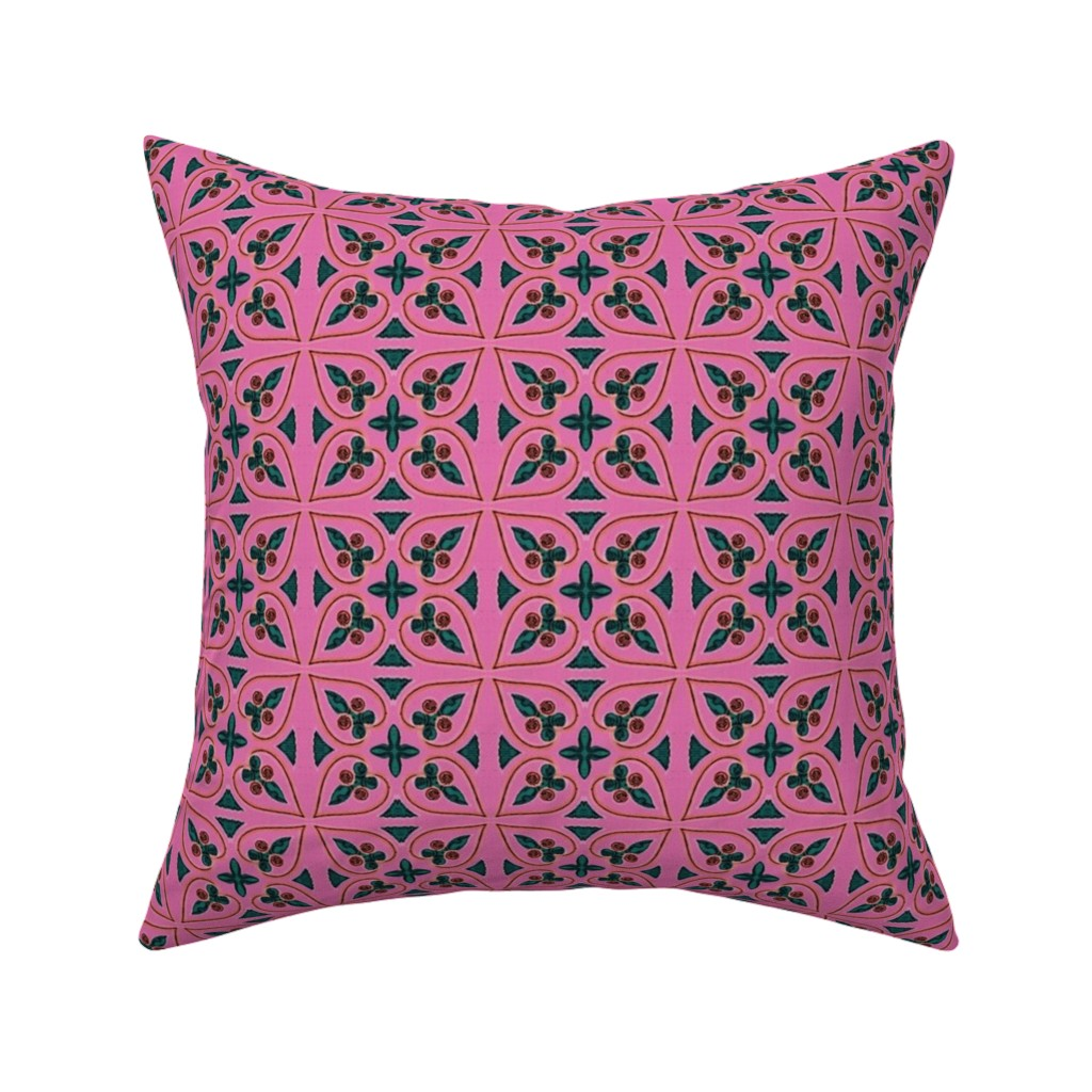 Catalan Throw Pillow featuring bizantine 155 by hypersphere