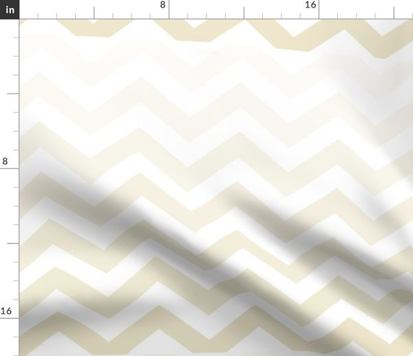 Fabric By The Yard Chevron Ombre Graubraun