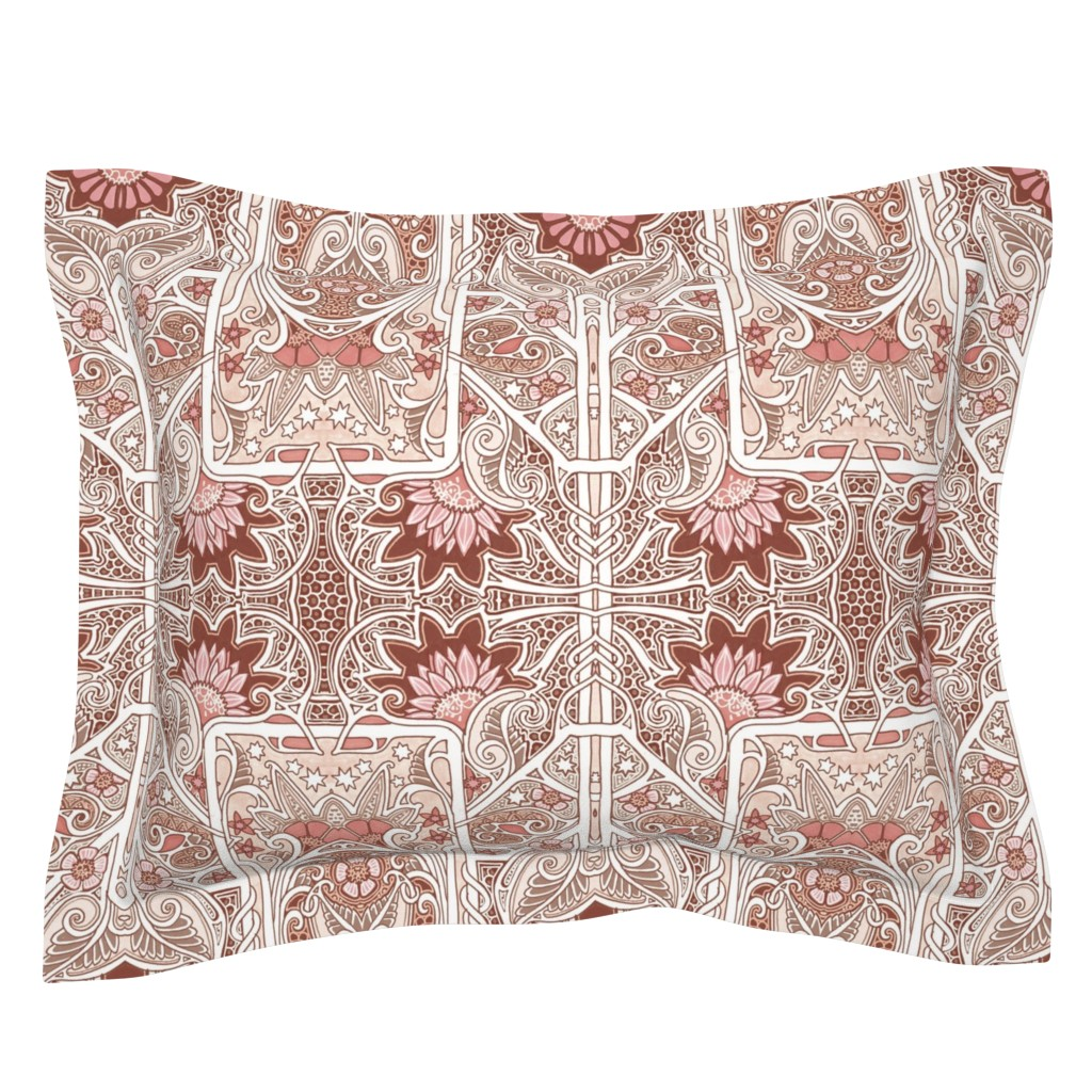 Sebright Pillow Sham featuring Memories of Grandmother's Lace by edsel2084