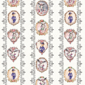 ben ami ,Victorian Bunny Rabbit & Bear