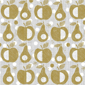 Apples and pears-gold