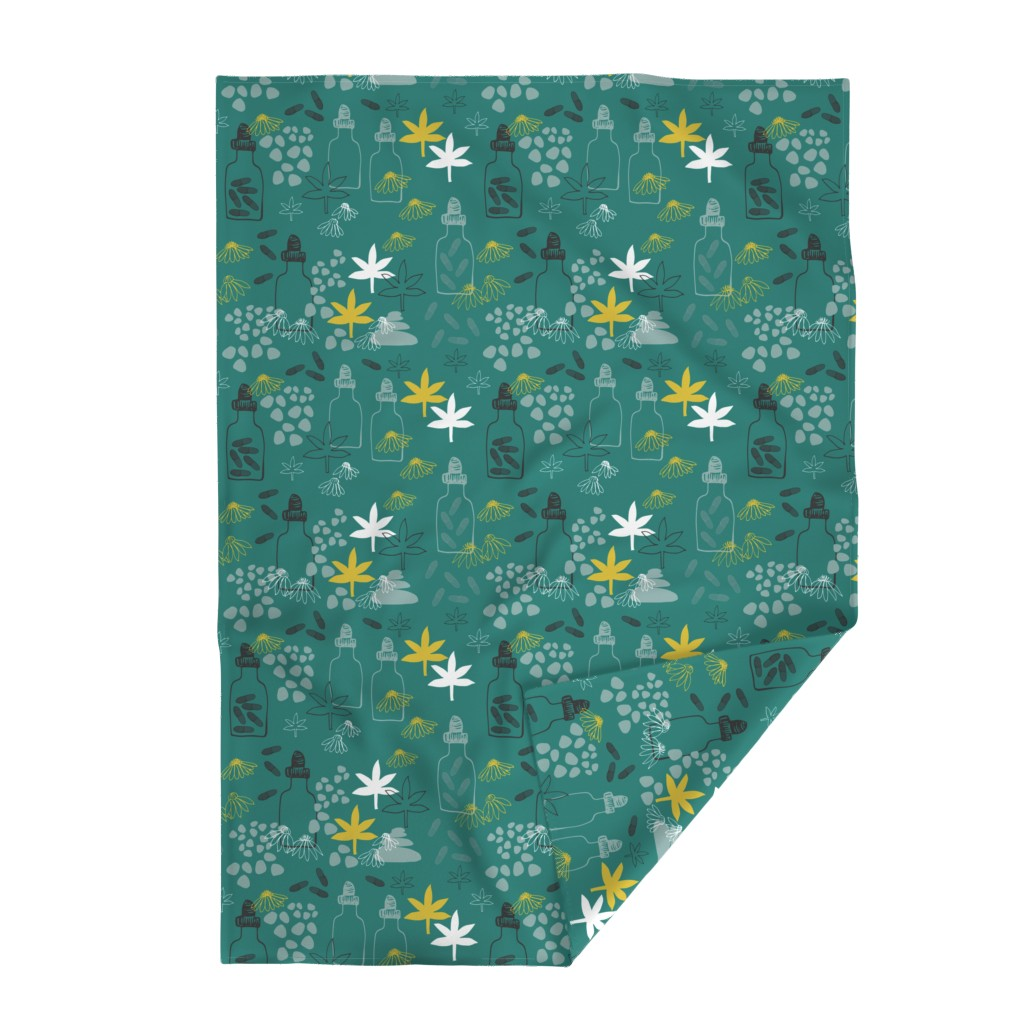 Lakenvelder Throw Blanket featuring Abstract Medicinal Plants And Flowers by maredesigns
