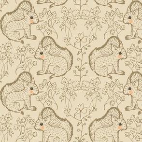 squirrels motif nocciola