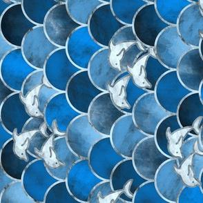 Wave Jumpers (Blue) / Tilted